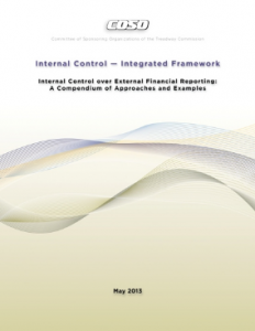 INTERNAL CONTROL OVER EXTERNAL FINANCIAL REPORTING: A COMPENDIUM OF APPROACHES AND EXAMPLES