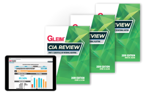 GLEIM CIA TEST BANK AND BOOK 2021 EDITION (PHYSICAL BOOK + ONLINE EXAM PRACTICE QUESTIONS)