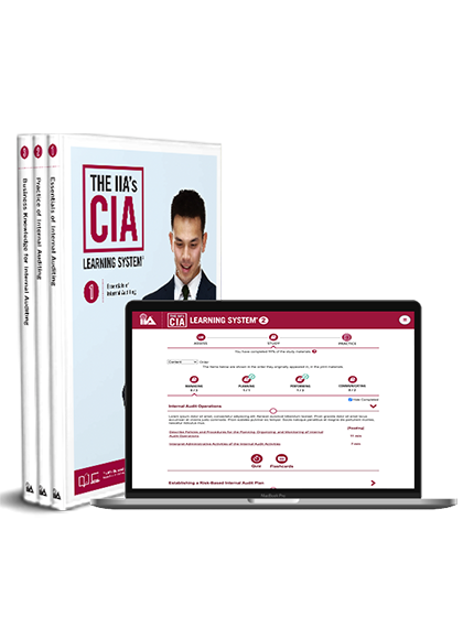 THE IIA'S CIA LEARNING SYSTEM VERSION 7.0 PRINT + ONLINE